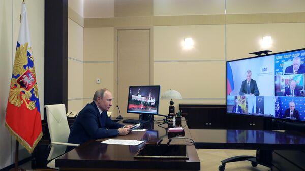 LIVE: Рабочая встреча Владимира Путина с депутатами Государственной Думы