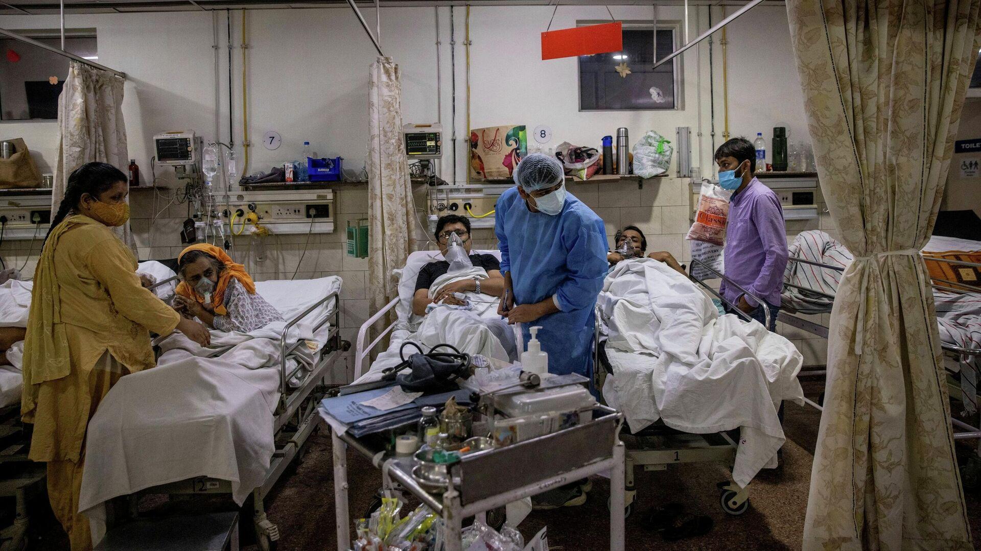 Больница для зараженных коронавирусной инфекцией COVID-19 в городе Нью-Дели, Индия - РИА Новости, 1920, 25.06.2021