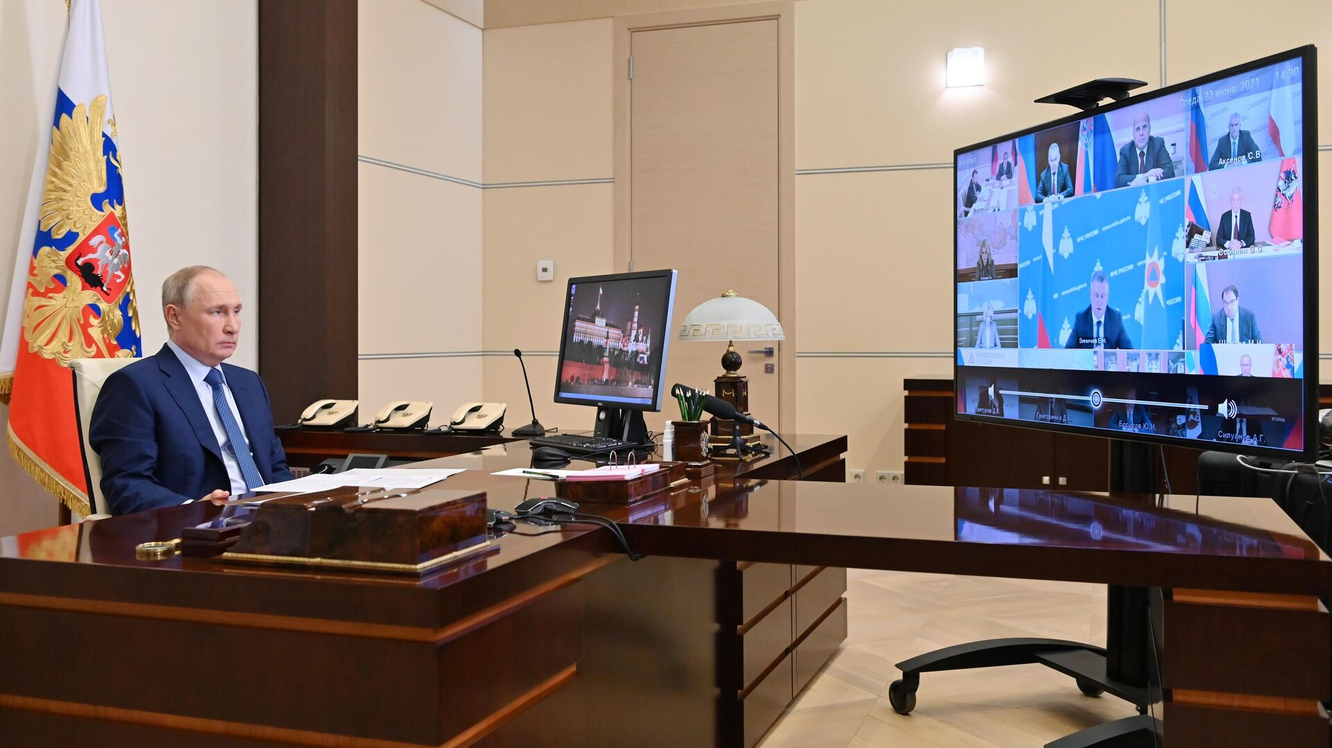 Президент РФ Владимир Путин проводит совещание с членами правительства - РИА Новости, 1920, 23.06.2021