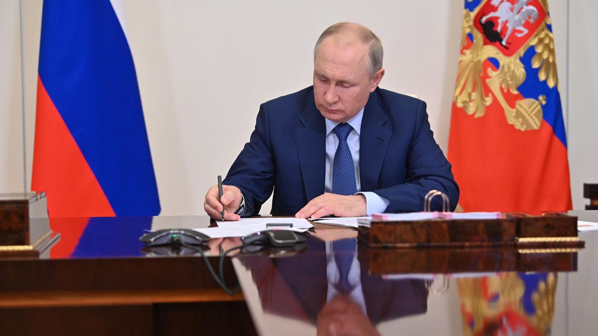 Президент РФ В. Путин провел совещание с членами правительства РФ - РИА Новости, 1920, 24.06.2021