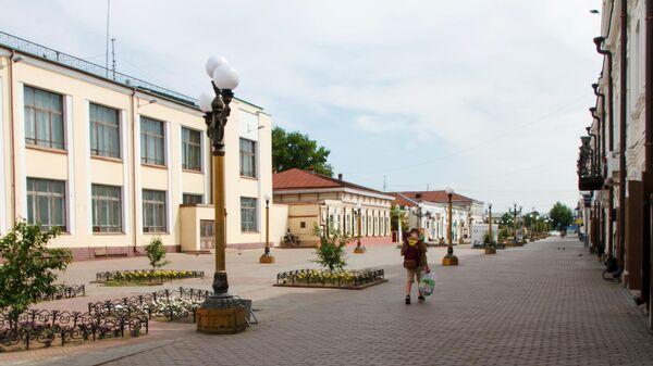 Опустевшая улица Ленина в Улан-Удэ