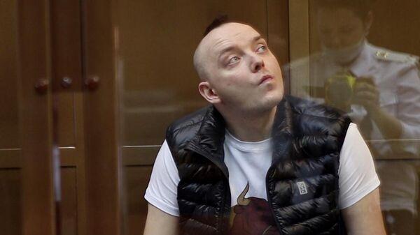 Советник главы Роскосмоса Иван Сафронов на заседании Московского городского суда