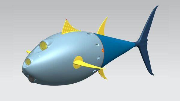 3D модель робота-тунца