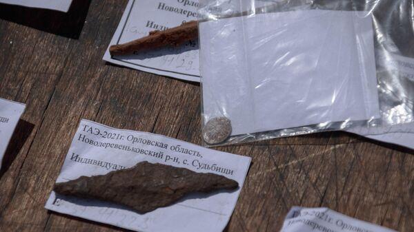 Находки: наконечник стрелы и монета времен Ивана Грозного