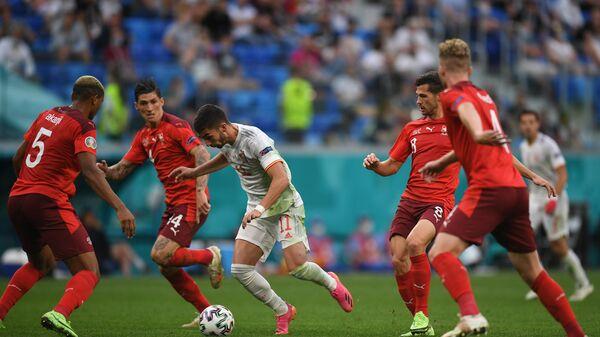 Эпизод матча Швейцария - Испания