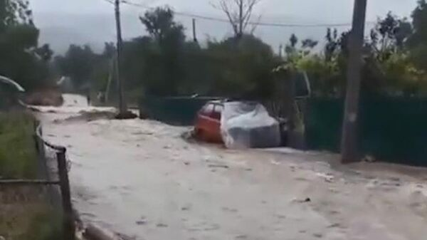 Дождь в Ялте и других районах Крыма привел к подтоплениям