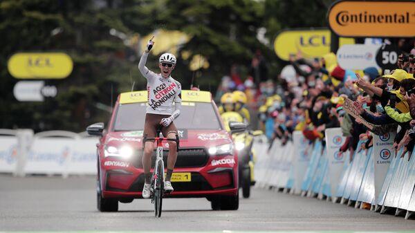 встралийский велогонщик Бен О'Коннор из команды AG2R Citroen Team
