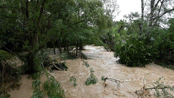 Последствия схода селя в Бахчисарайском районе
