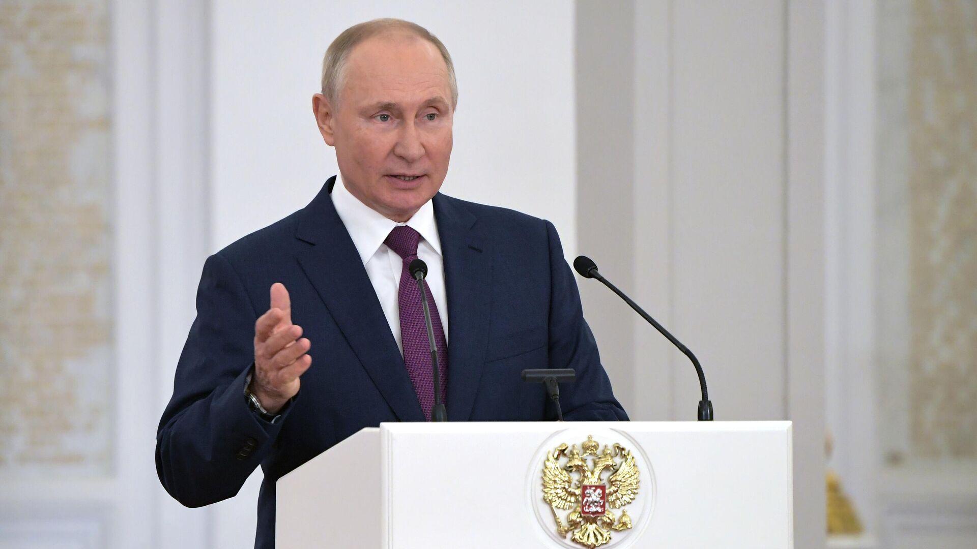 Президент Российской Федерации Владимир Путин - РИА Новости, 1920, 12.07.2021