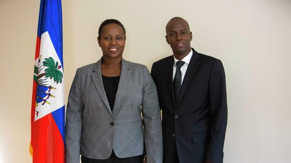 Президент Гаити Жовенель Моиз с женой Мартин