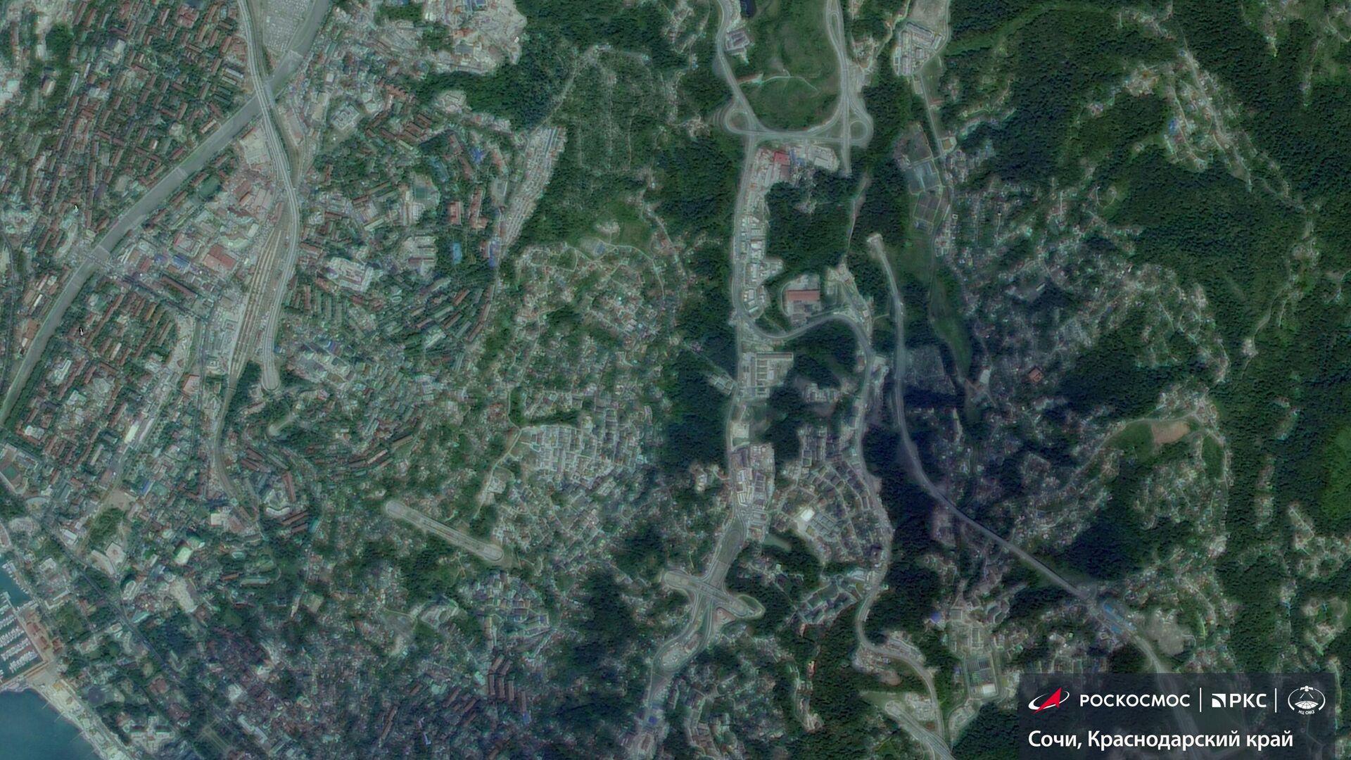 Спутниковые снимки подтопленного из-за дождей Сочи - РИА Новости, 1920, 07.07.2021