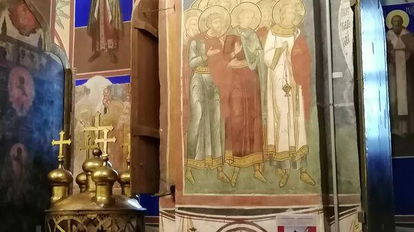 Фрески Рождественского собора в Суздальском кремле