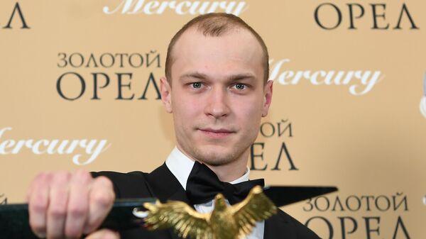 Актер Юрий Борисов, победивший в номинации Лучшая мужская роль в кино за фильм Калашников