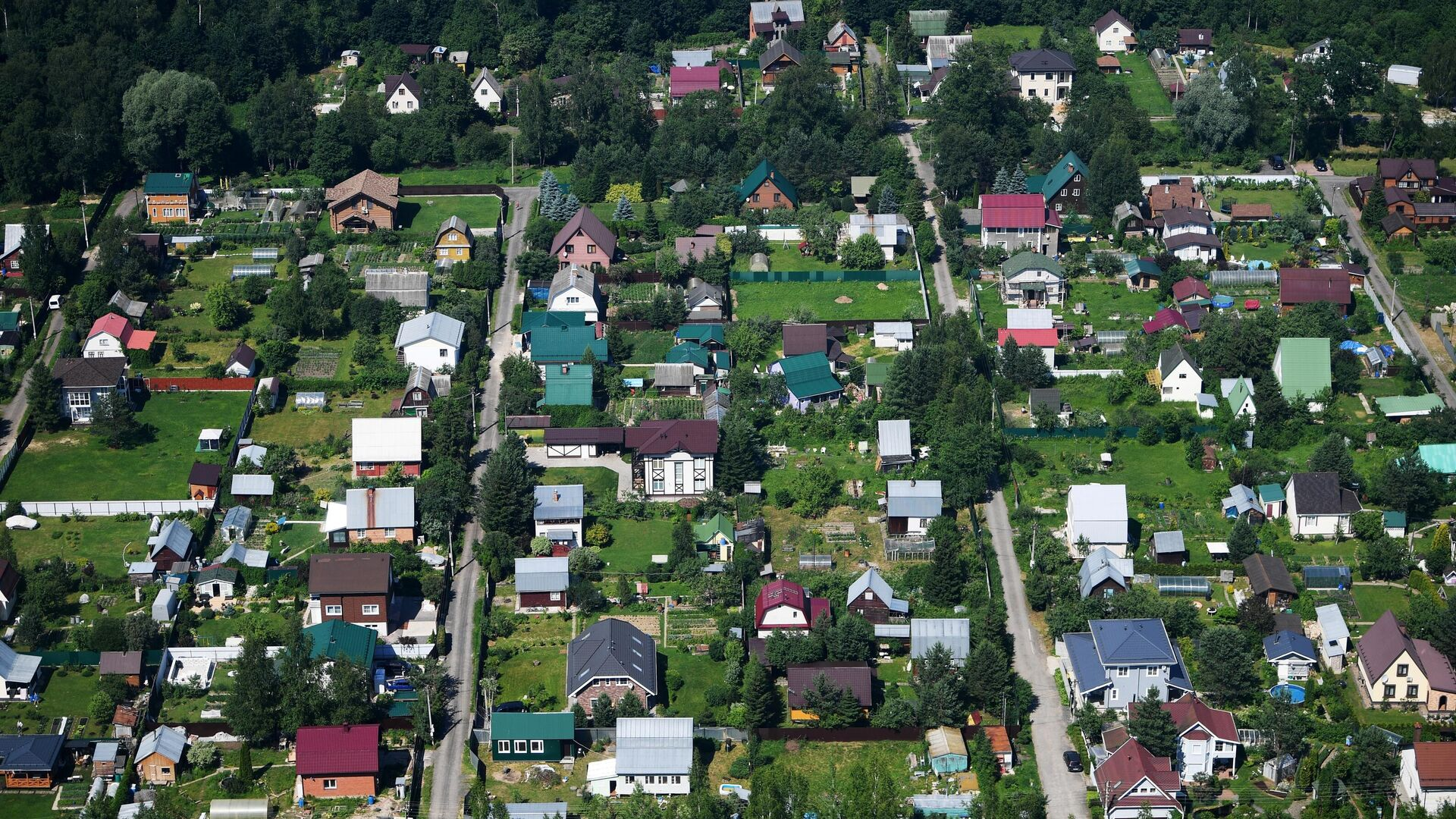 Вид на дома в садовом товариществе - РИА Новости, 1920, 09.07.2021