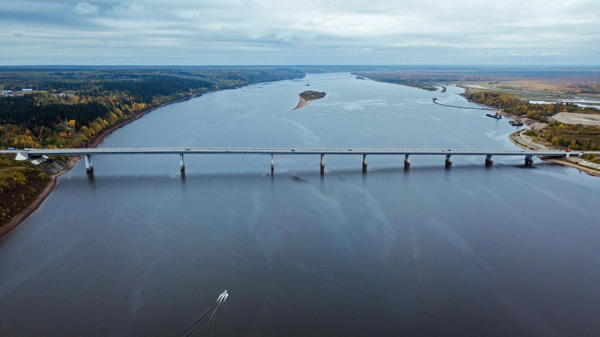 Мост через реку Каму в районе города Усолье Пермского края - РИА Новости, 1920, 11.07.2021