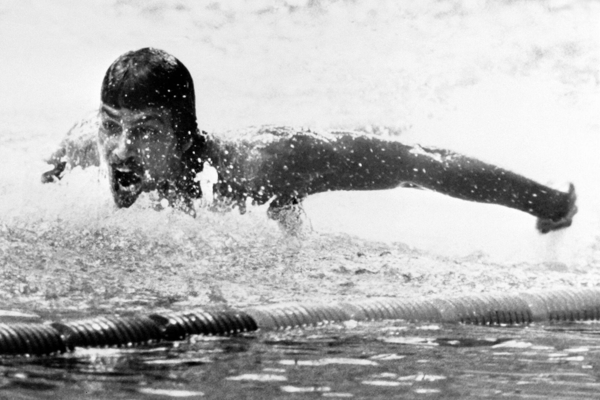 Семикратный чемпион Олимпийских игр, американский пловец Марк Спитц - РИА Новости, 1920, 13.07.2021