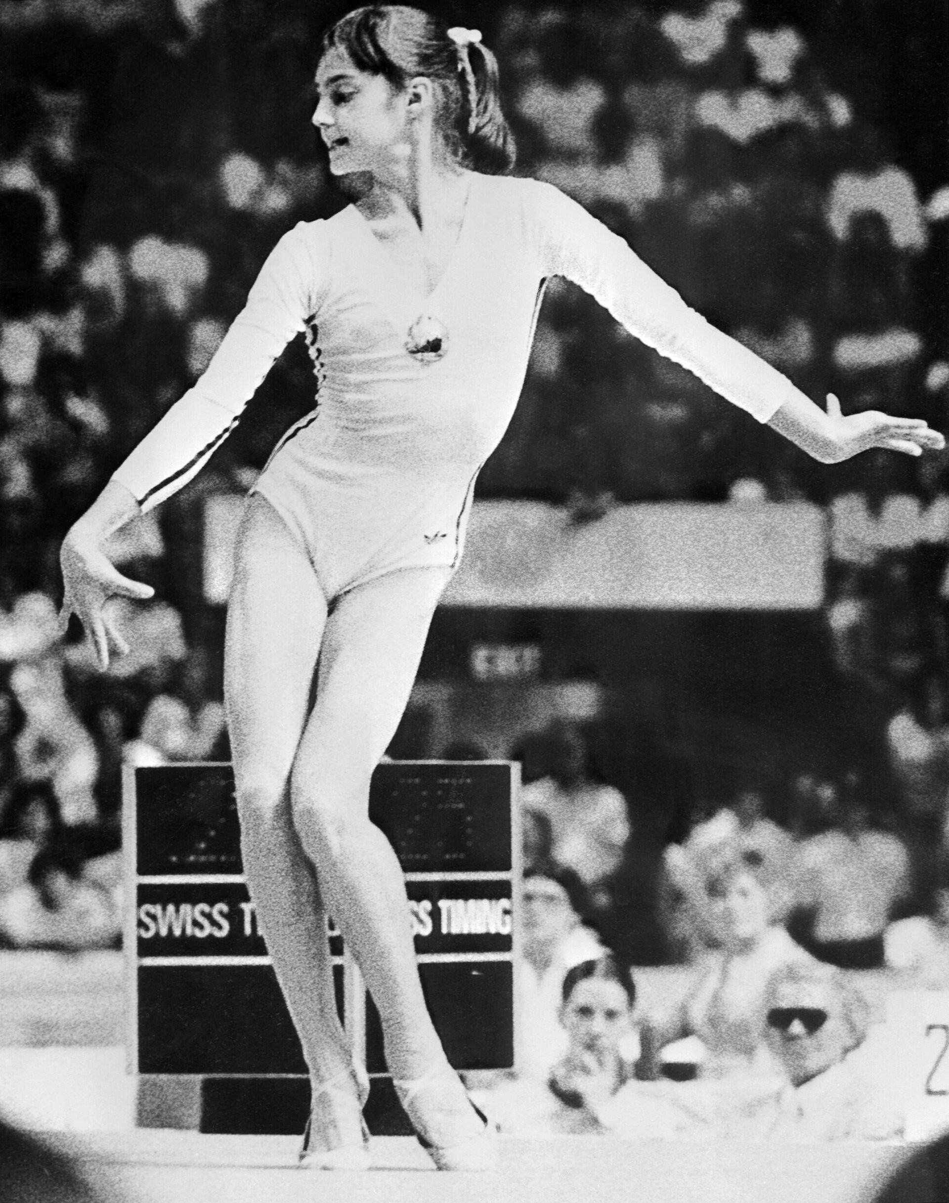 Румынская гимнастка Надя Команечи на Олимпийских играх 1976 года в Монреале - РИА Новости, 1920, 14.07.2021