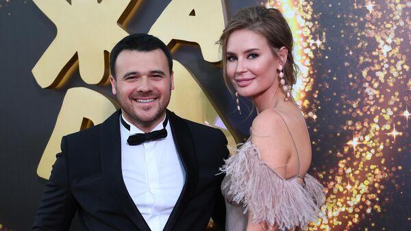 Певец и музыкант Эмин Агаларов (EMIN) с супругой Аленой Гавриловой