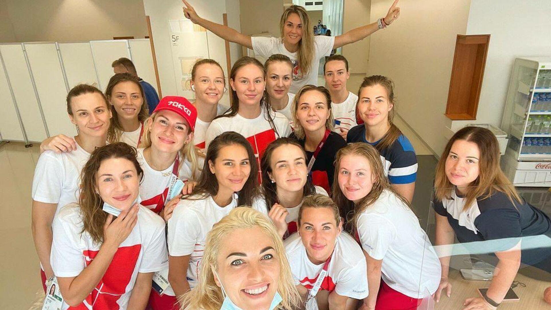 Гандболистки сборной России в олимпийской деревне в Токио - РИА Новости, 1920, 20.07.2021