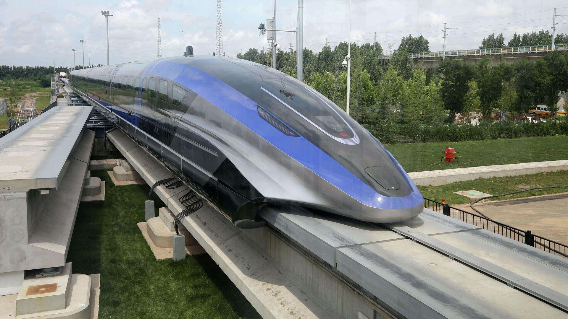 В Китае создали поезд на магнитной подушке, развивающий скорость движения до 600 км/ч