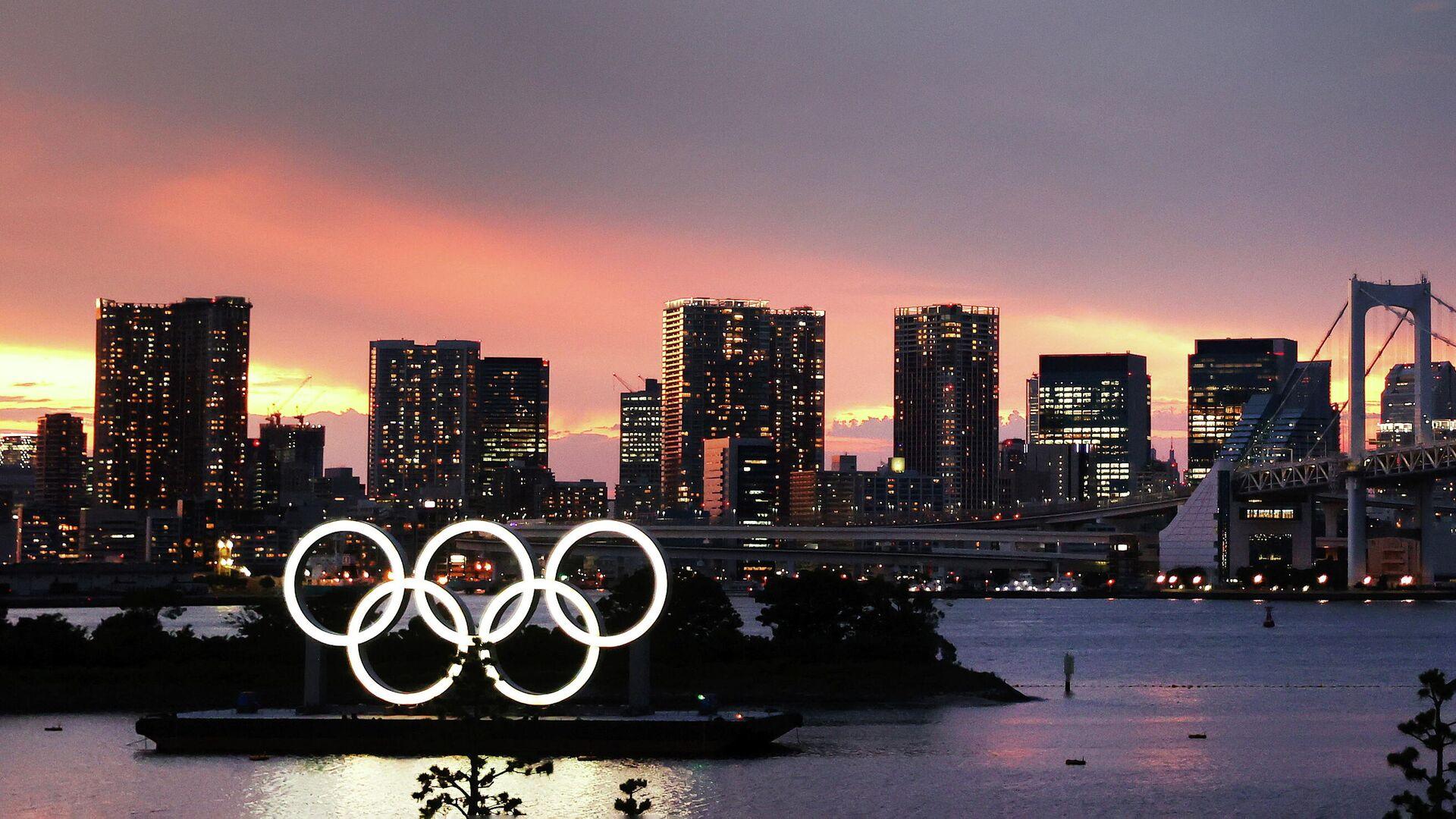 Олимпийские кольца в Токио - РИА Новости, 1920, 02.08.2021