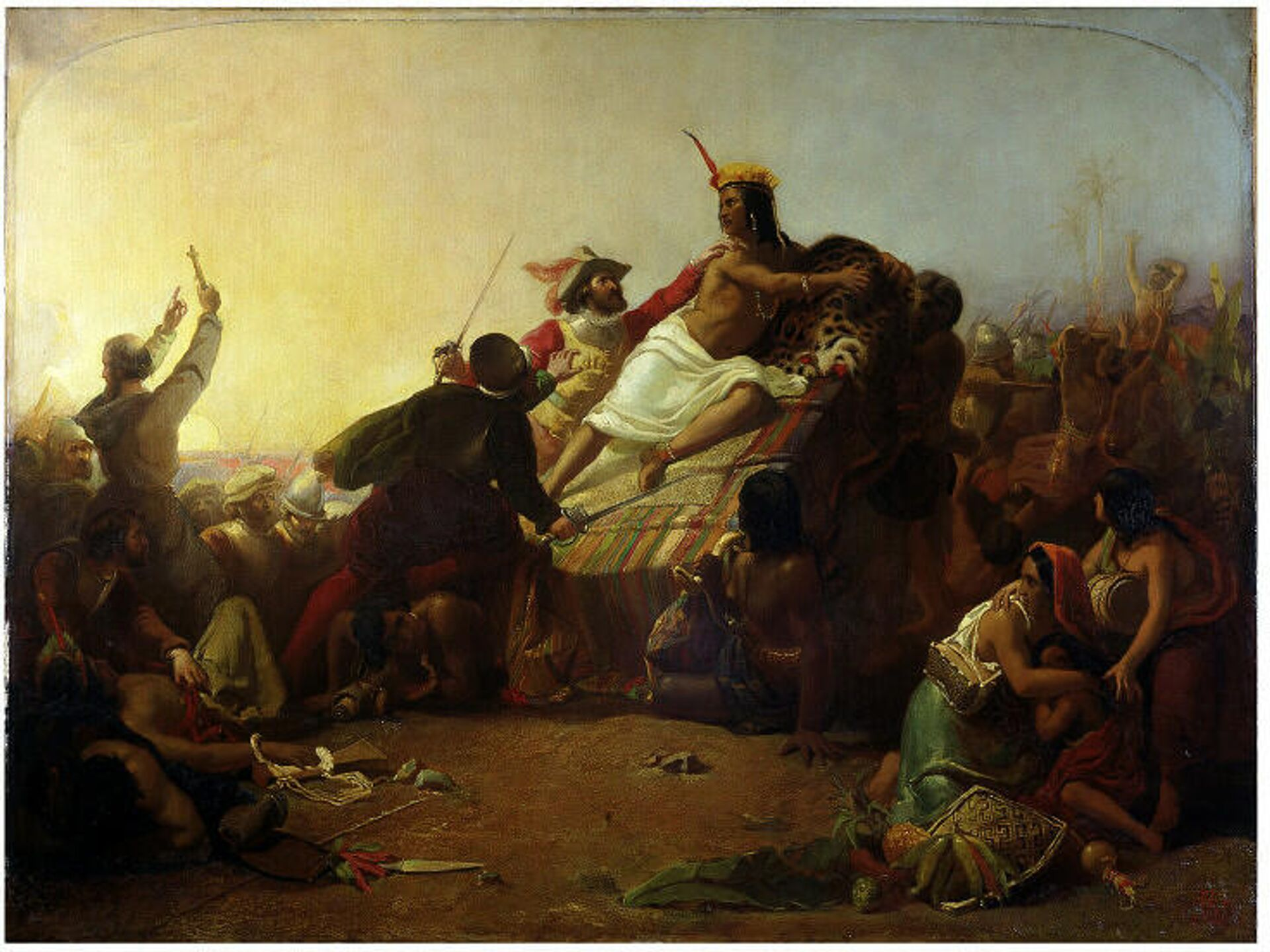 Картина Писарро берёт в плен Инку Атауальпу (1845) - ПРОФИ Новости, 1920, 23.07.2021