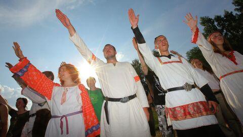 Во время празднования Дня Перуна в Калуге на капище Гамаюнщина