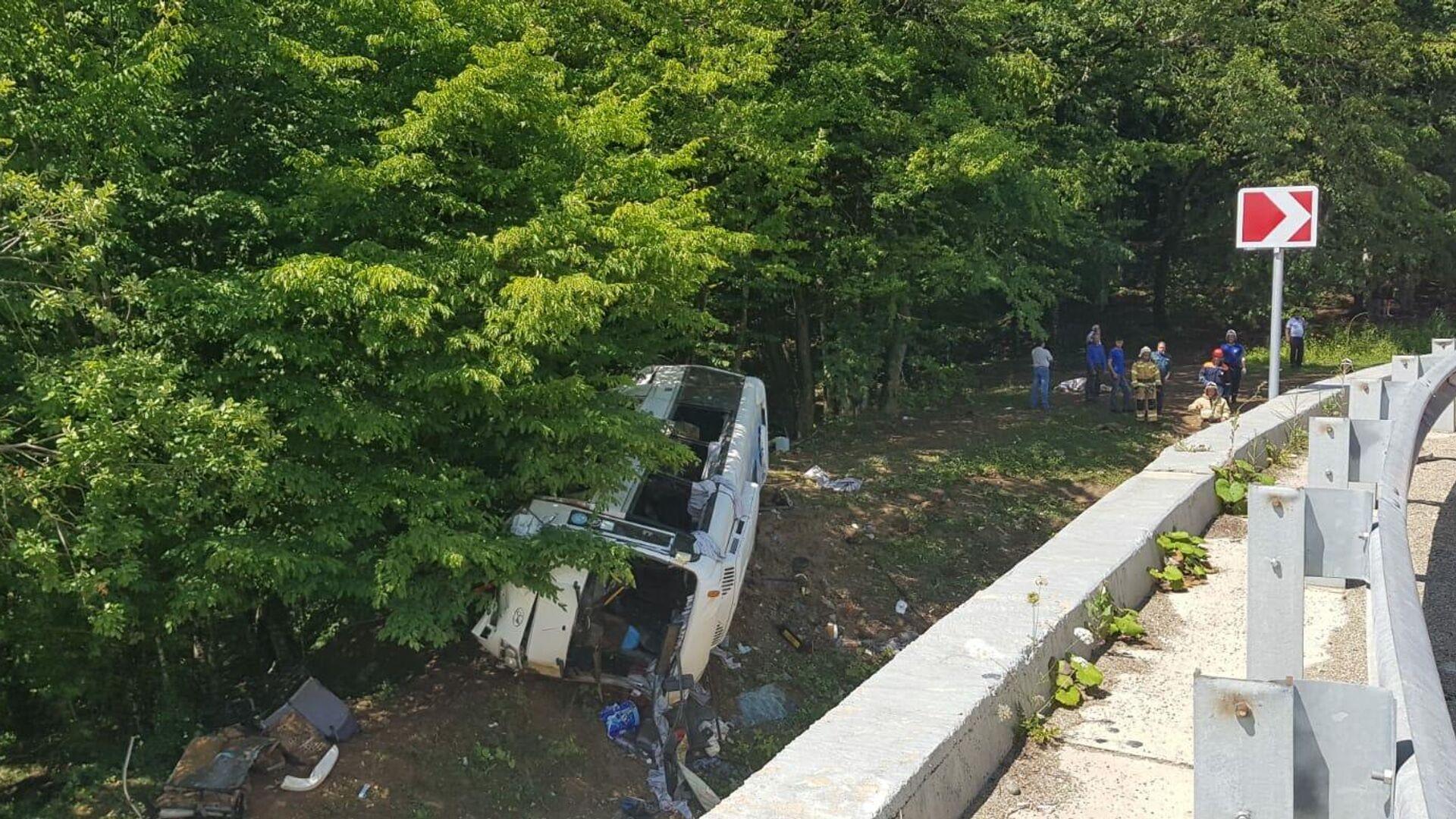 В Краснодарском крае рассказали о состоянии пострадавших в ДТП с автобусом