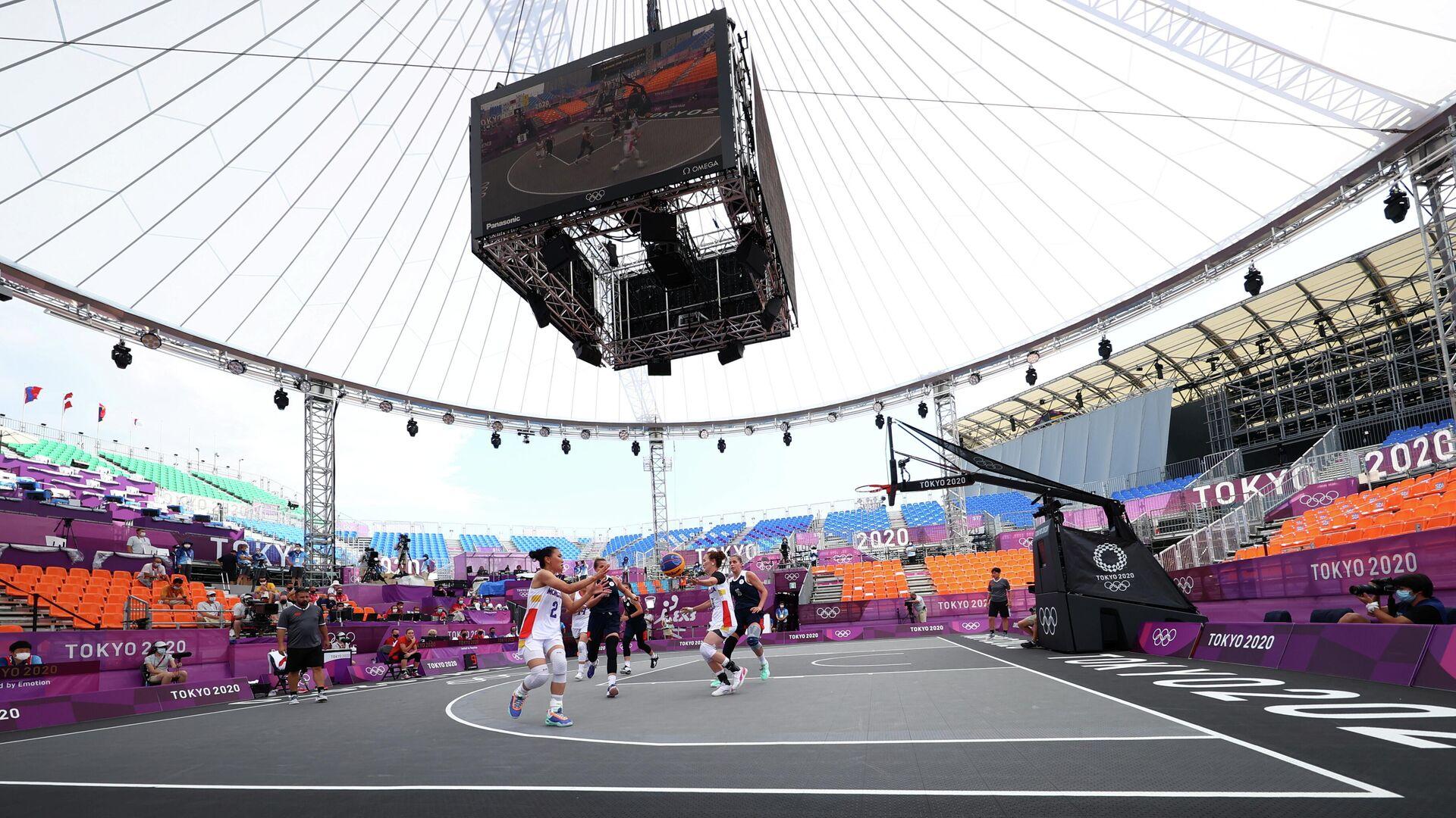 Игровой момент матча по баскетболу 3х3 Россия - Монголия - РИА Новости, 1920, 25.07.2021