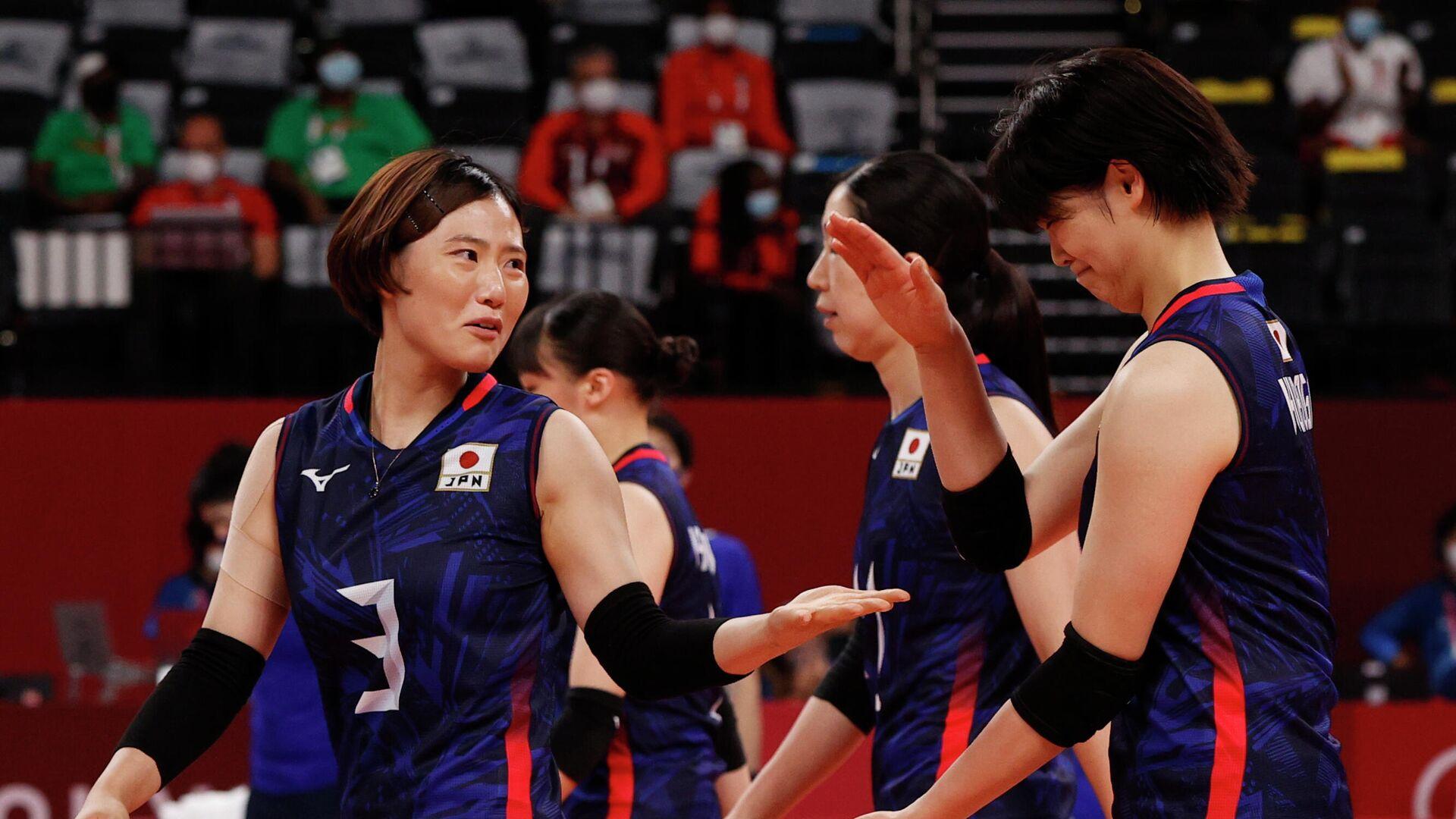 Игроки женской сборной Японии по волейболу - РИА Новости, 1920, 25.07.2021