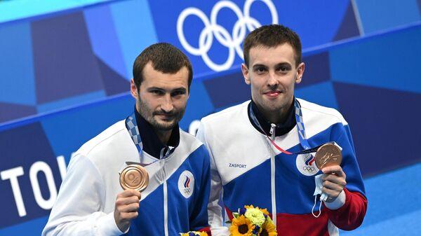 Российские прыгуны в воду Александр Бондарь и Виктор Минибаев
