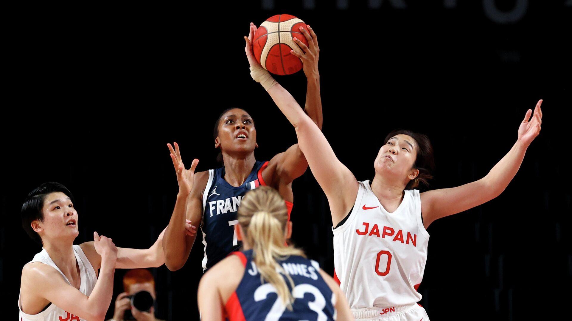 Матч между баскетбольными сборными Японии и Франции на Олимпиаде в Токио - РИА Новости, 1920, 27.07.2021