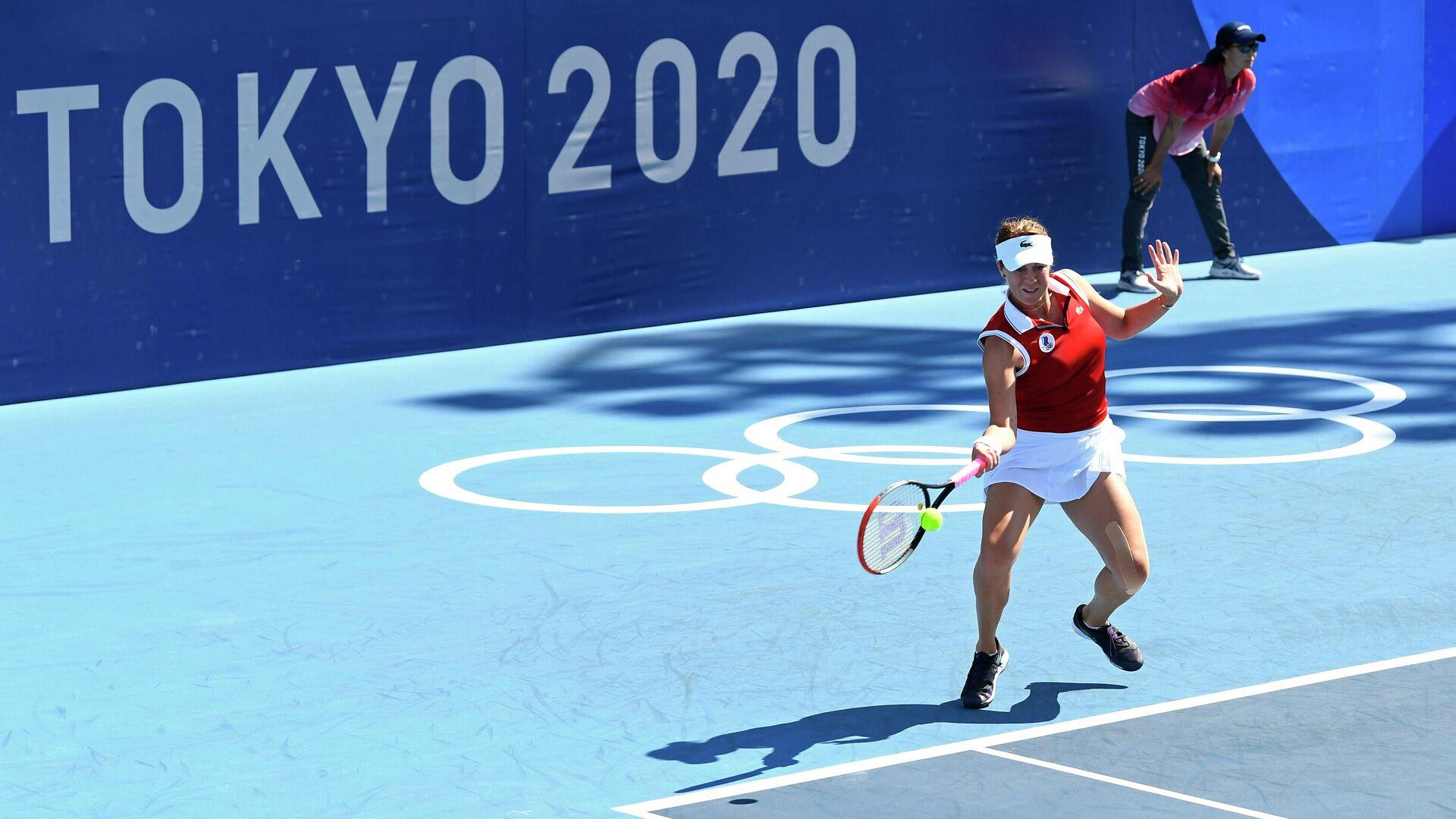 Анастасия Павлюченкова на Олимпийских играх в Токио - РИА Новости, 1920, 27.07.2021