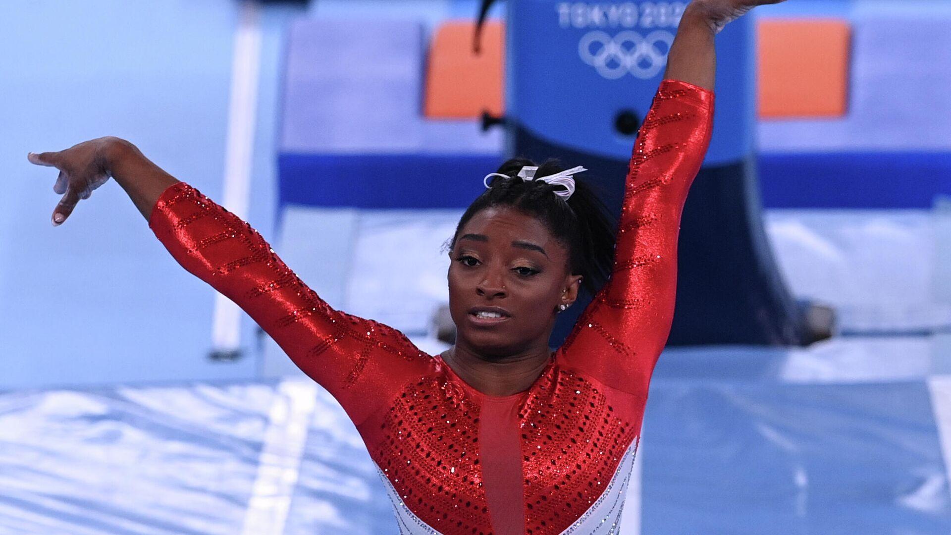 Олимпиада-2020. Спортивная гимнастика. Женщины. Командное многоборье - РИА Новости, 1920, 28.07.2021