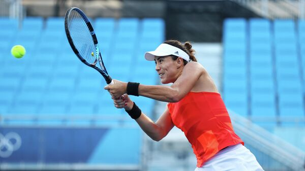 Казахстанская теннисистка Елена Рыбакина