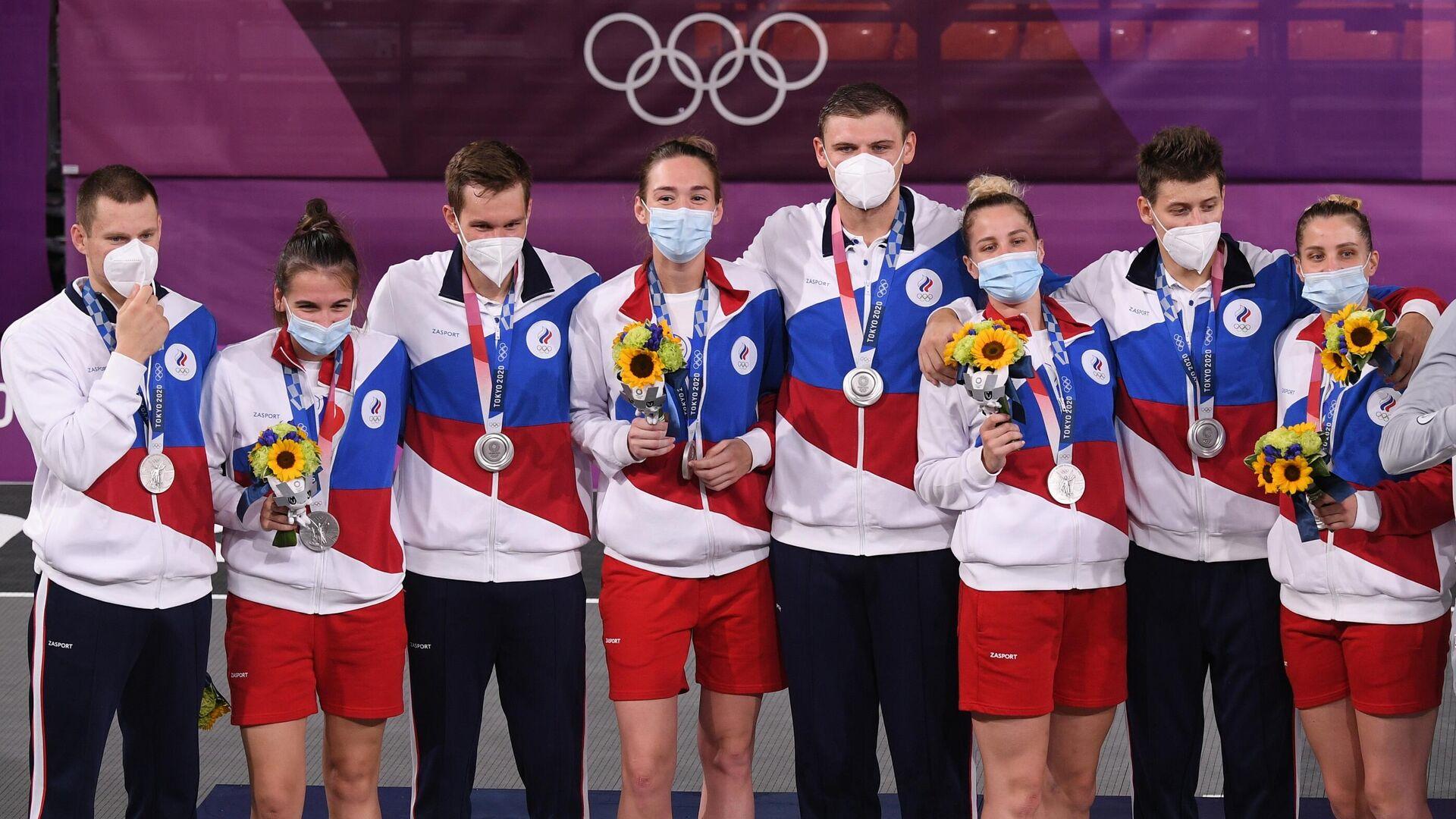 Члены мужской и женской сборной России по баскетболу 3х3 - РИА Новости, 1920, 29.07.2021