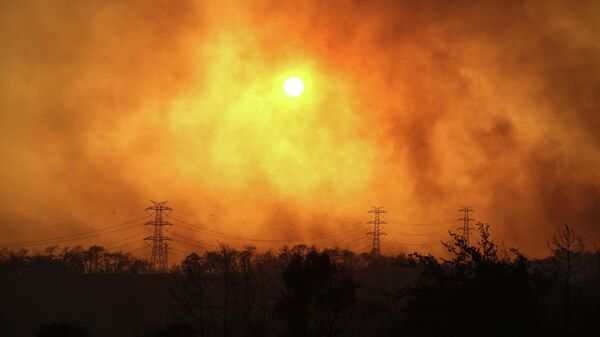 Лесной пожар в Анталье, Турция