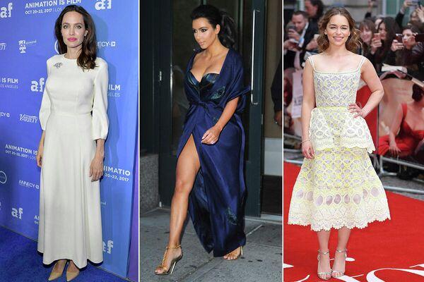 Анджелина Джоли, Ким Кардашьян и Эмилия Кларк в платьях от российского дизайнера Ulyana Sergeenko