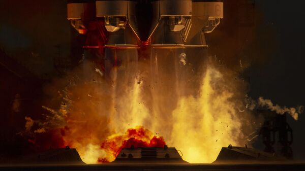 Пуск ракеты-носителя Протон-М с многофункциональным лабораторным модулем Наука с космодрома Байконур