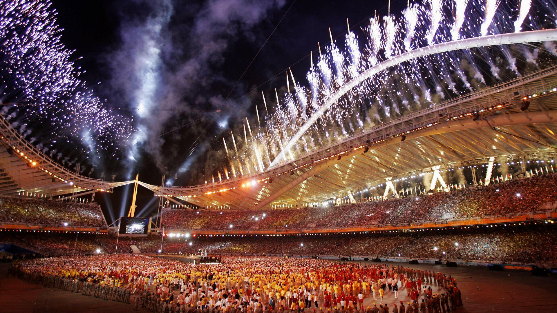 Церемония закрытия Олимпийских игр 2004 года в Афинах - РИА Новости, 1920, 05.08.2021