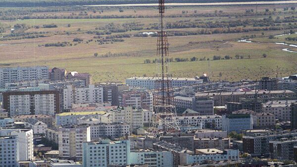 Вид на город Якутск