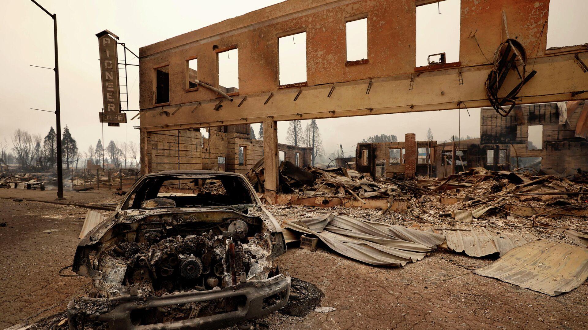Последствия пожара в Гринвилле, Калифорния - РИА Новости, 1920, 06.08.2021