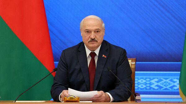 Президент Белоруссии Александр Лукашенко во время встречи Большой разговор с Президентом