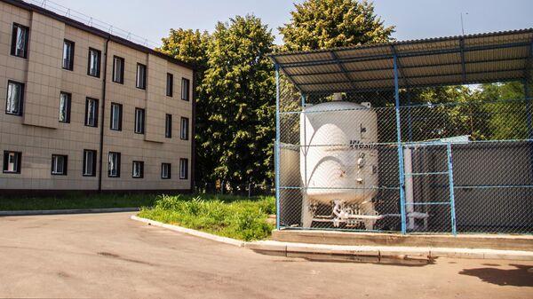 Кислородная станция на территории Республиканской клинической больницы скорой медицинской помощи во Владикавказе