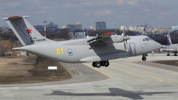 Полет нового российского военно-транспортного самолета Ил-112В