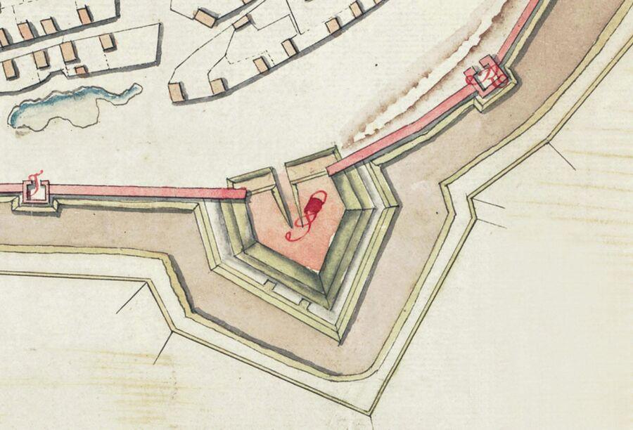 Шейнов бастион. Фрагмент плана Смоленской крепости 1778 года