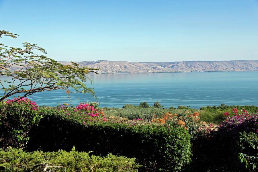 Галилейское море (Тивериадское озеро)  в Израиле