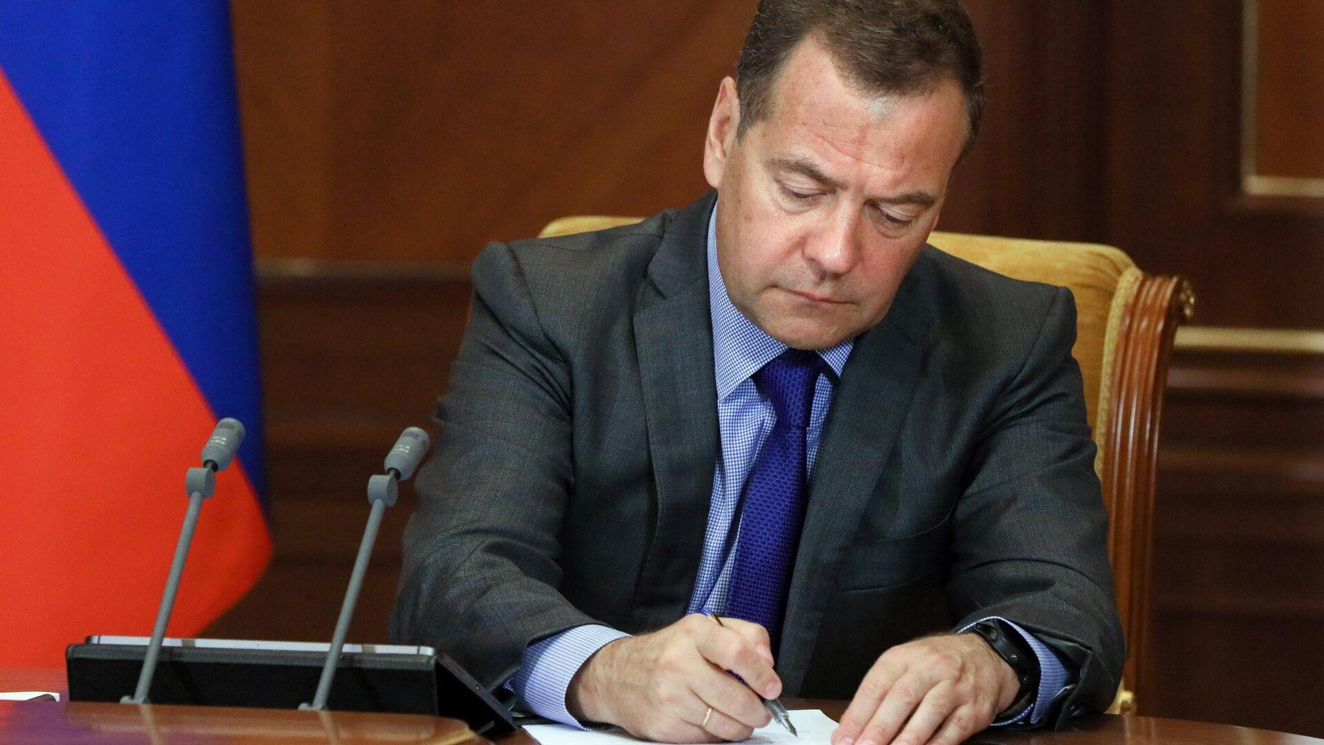 Заместитель председателя Совета безопасности РФ Дмитрий Медведев провел совещание по развитию аграрных отраслей экономики РФ - РИА Новости, 1920, 25.09.2021