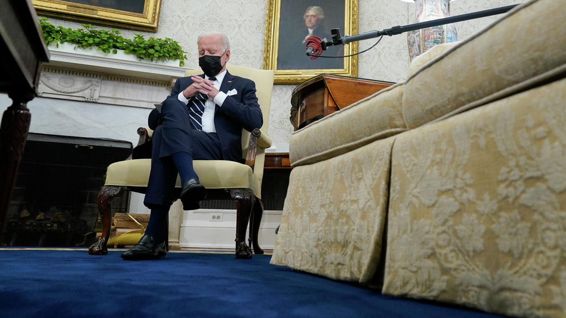 Президент Джо Байден во время встречи с премьер-министром Израиля Нафтали Беннеттом - РИА Новости, 1920, 29.08.2021