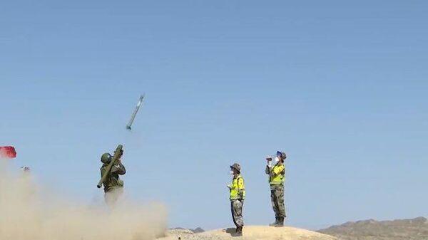 Российский зенитчик поражает высокоскоростную мишень-ракету